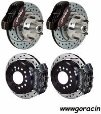 "WILWOOD DISC BRAKE KIT,1965-1969 FORD MUSTANG,11"" Drilled Rotors,Black Calipers"