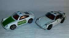 2x alte Spielzeugautos/Vintage toy cars CORGI JUNIORS: Porsche Carrera