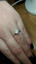 Good Cut Solitaire White Gold I3 Fine Diamond Rings