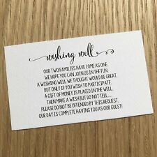 10 WISHING WELL CARDS general poem wedding invitations black white Popular Quote