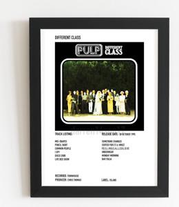 Pulp Poster Different Class Album Art Polaroid Style Rock Poster A5,A4,A3