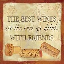 New! Wine Cork Sentiment II by Cynthia Coulter Fine Art Print Home Decor 814399