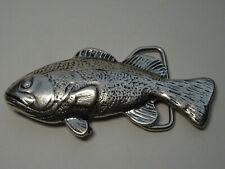 Vintage Gürtelschnalle Buckle Silber Schnalle Fisch Karpfen Gürtel Accessoires