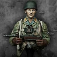 1/10 Bust Resin Figure Model Kit WWII WW2 German Paratrooper Soldier Unpainted