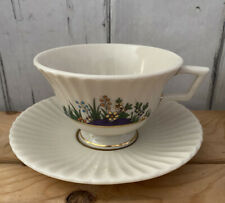 Lenox Temple Collection Rutledge Teacup Coffee Cup Saucer Enameled Flowers Usa