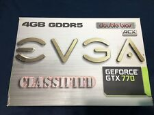 EVGA GTX770 4GB Classified Grafikkarte Nvidia GeForce ACX Cooling Gaming HDMI DP