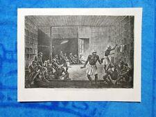 Gravure Année 1862 - Exorcisme pour guerir un malade - Esorcismo per guarire