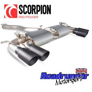 "Scorpion Golf R MK7 Exhaust Cat Back 3"" VALVED Non Res Daytona Black SVWS046DC"