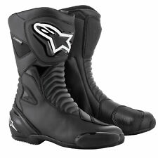 Alpinestars SMX-S WaterProof Motorcycle Motorbike Riding Boots - Black/Black