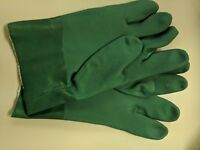 PVC Green Dipped Chemical Gloves Green 27cm