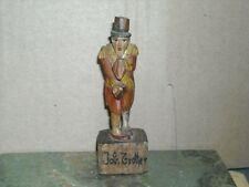 """vintage Job Trotter wooden hand carved figure figurine mini statue 3 3/16"""" Anri"""