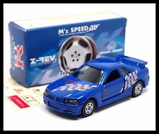 TOMICA M'Z SPEED Z-REV NISSAN SKYLINE GT-R R34 1/61 TOMY DIECAST CAR