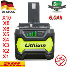 18V Lithium Li-ion RB18L50 Ersatzakku Für Ryobi 6,0 Ah Akku ONE+ P108 RB18L40 DE