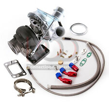 T04E T3/T4 A/R .63 420HP STAGE III BOOST TURBO CHARGER+WG+OIL FEED+DRAIN LINE