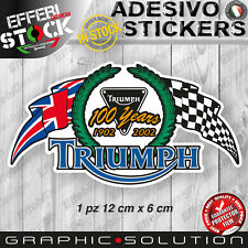Adesivo Sticker TRIUMPH 100 years UK bonneville daytona 675 speed street triple