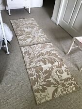 Beautiful, Vintage Pair of Rugs. Neutral And Elegant. Washable.