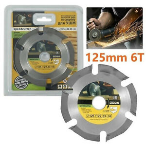 1 PCS 5 Inch 125mm Angle Grinder Cutting Disc Wood Saw Blade for Carving Tool 3T
