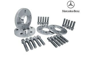 4 Pc Set Mercedes Benz 5x112 mm Hub-Centric Wheel Spacers 66.56 W/ Ext Lug Bolts