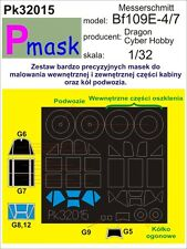 MESSERSCHMITT BF-109 E-4 PAINTING MASK TO DRAGON , CYBER HOBBY #32014 1/32 PMASK