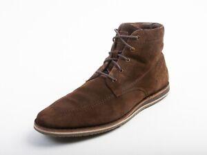 Hugo Boss Brown Suede Derby Boots 11.5 12205
