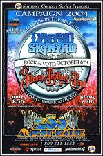 Allman Brothers Lynyrd Skynyrd Original 2004 Oklahoma City Zoo Concert Poster