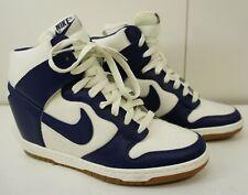 Nike Dunk Sky HI Essential Women High Tops Sail Loyal Blue Suede 644877-104 Sz 9