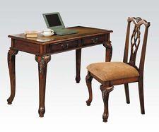 Acme Furniture 09650 Aristocrat Writing Desk W/ Chair Set - Dark Brown Cherry