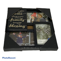 🍊Mainstays Picture Frame Collage 5x7in 3-Opening Black Wall Decor Photos FAMILY