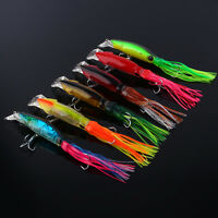 Fishing Lures 24cm/40g Squid Soft Crank Bait Fish Tackle Crankbait Jig Hook LJ
