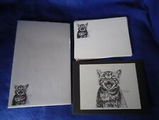 Meowing Kitten 3 Pc Set-Notepad, Print and 10 Printed Envelopes New