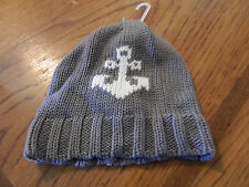 NWT baby Gap boy gray cable knit beanie w/white anchor; size 18-24m