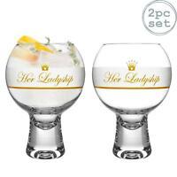 Gin Glasses 2 Piece Set Short Stem iStyle Ikonic Spanish Balloon Gin Tonic 540ml