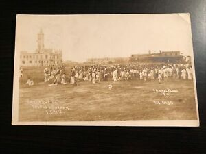 1914 RPPC Photo Postcard--MEXICO--Vera Cruz-Tuxpan Busy Port Scene-USS Annapolis