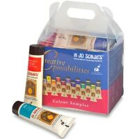 Jo Sonja's 12 Brilliant Colours x 20ml Artists Acrylic Paint Tubes Set Art Kit