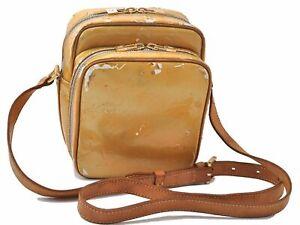 Auth Louis Vuitton Vernis Wooster Shoulder Cross Body Bag Yellow M91075 LV D7307