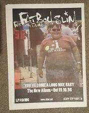 Fat Boy slim You've come a 1998 press advert Full page 30 x 40 cm mini poster