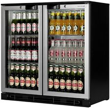 Double Display Fridge Bottle Cooler Under Bar Counter Rent From £6.50 A Week UK