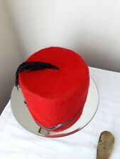 tommy cooper commidian hat red with black tassles