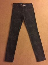 Women's Lee Scarlett Skinny Stretch Floral Pattern Jeans W26 L31 Good Cond (556)