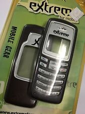 Nokia 2100 Front & Rear Housings/Covers in Cola incl Screen Display Glass,Keypad
