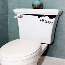 Indiashopers Creative Toilet Monster Hello Bathroom Decal Wall Sticker