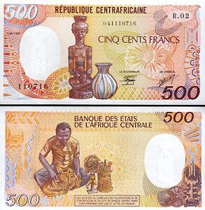 Central African Republique 500 Francs 1987, UNC, P-14c, Sign 9
