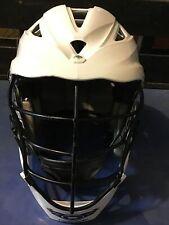 New listing Euc Cascade Pro 7 Lacrosse Concussion? White Helmet with Chin Strap-Osfm