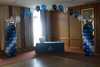 Large Buffet Table BALLOON ARCH with STARS COLUMNS WEDDING PARTY Birthday Party