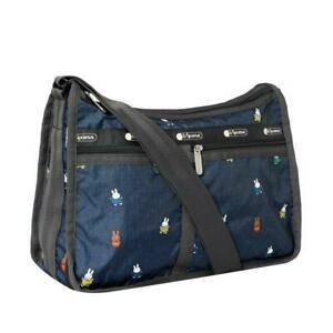 LeSportsac Dick Bruna Deluxe Everyday Bag Crossbody in Miffy and Friends NWT F
