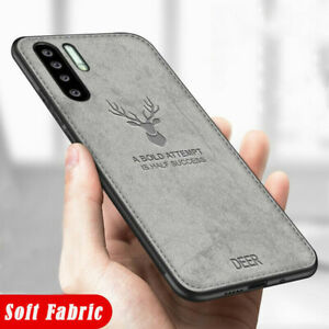 For Huawei P30 Pro P20 Y5 Y6 Y9 Luxury Hybrid Shockproof Soft Fabric Case Cover