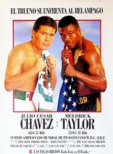 JULIO CESAR CHAVEZ vs MELDRICK TAYLOR 8X10 PHOTO BOXING POSTER PICTURE