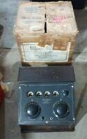 Scarce 1920s WARE Music Master Neutrodyne four tube radio with original box