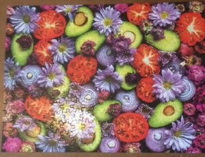 Puzzle - Ceaco - Ugly Produce - Guacamole 300pcs  Used. 2259-3