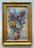 French impressionist Oil painting Bouquet of Roses GEORGES MICHEL (1883 1985)